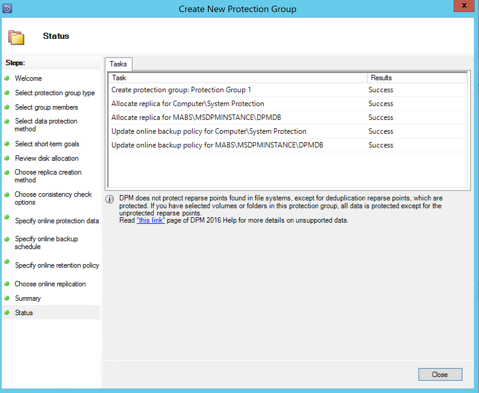 Azure Backup Server Configuration and Recovery