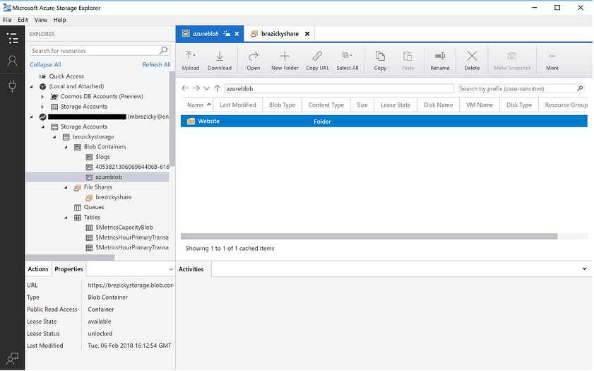 Getting Started with Azure Storage