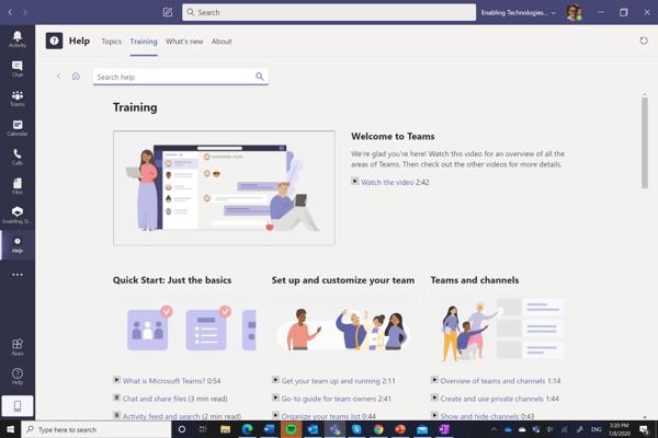 Training Microsoft Teams